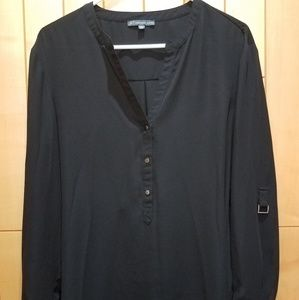 Beautiful Blouse black style button